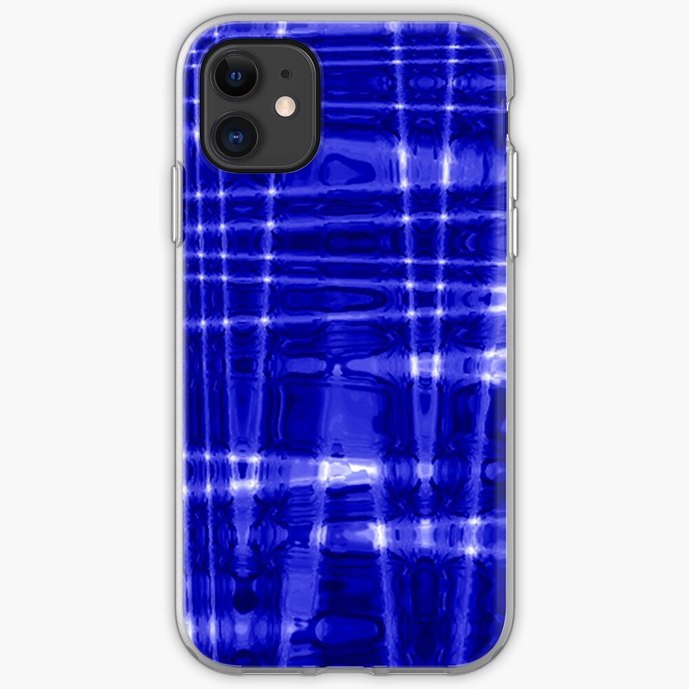 QUANTUM FIELDS ABSTRACT [1] BLUE [1] iPhone Soft Case
