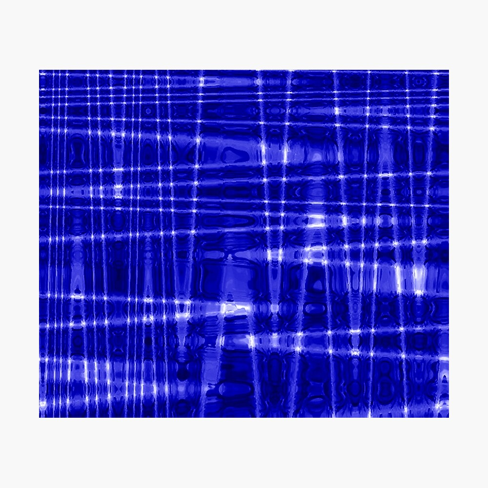 QUANTUM FIELDS ABSTRACT [1] BLUE [1] Photographic Print