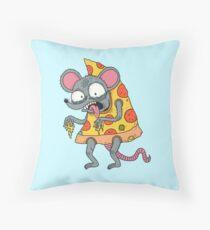 Ratpizza Throw Pillow