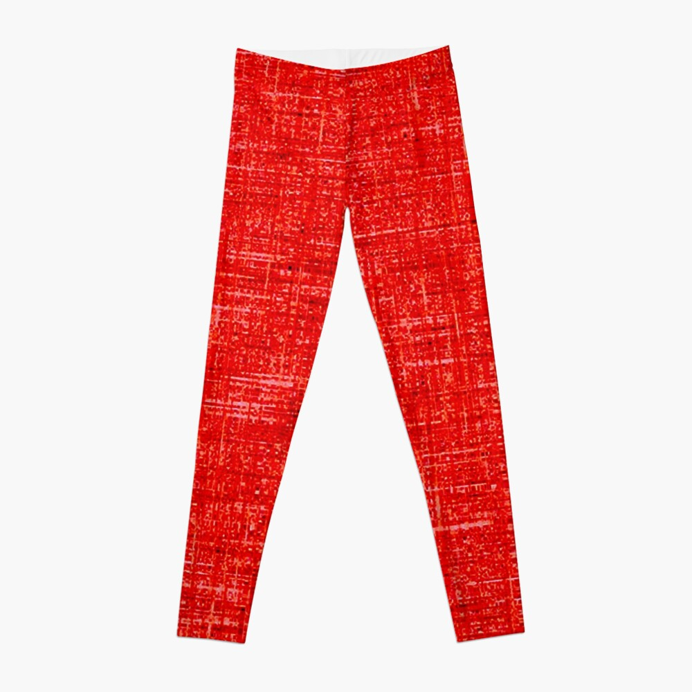 QUANTUM FIELDS ABSTRACT [4] RED [1] Leggings