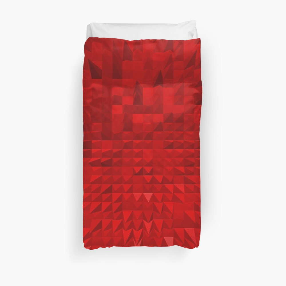 VISION OF THOUGHT ABSTRACT [1] RED [1] Duvet Cover