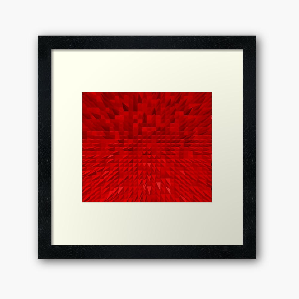 VISION OF THOUGHT ABSTRACT [1] RED [1] Framed Art Print