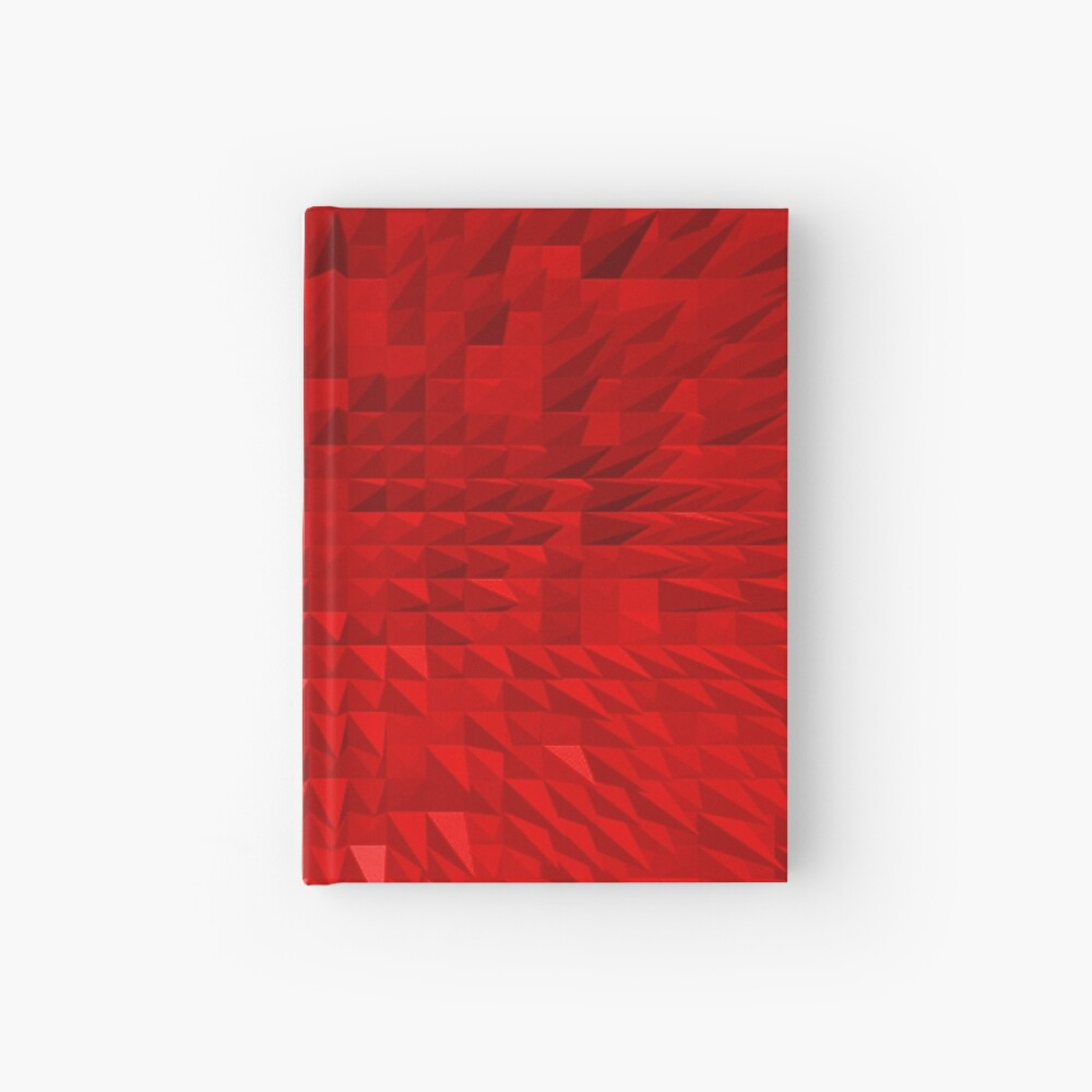 VISION OF THOUGHT ABSTRACT [1] RED [1] Hardcover Journal