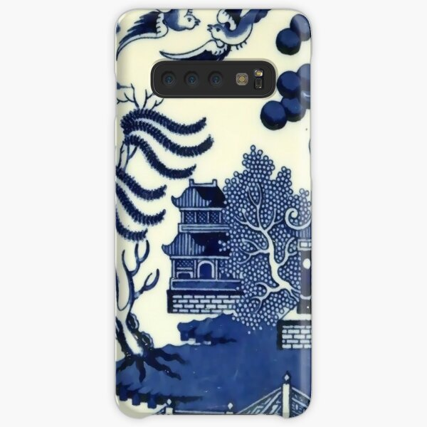 Antique willow ware oriental toile Samsung Galaxy Snap Case