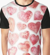 Be my Valentine. Watercolor Hearts. Love. Graphic T-Shirt