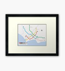 Lima Metro Map - Peru Framed Print