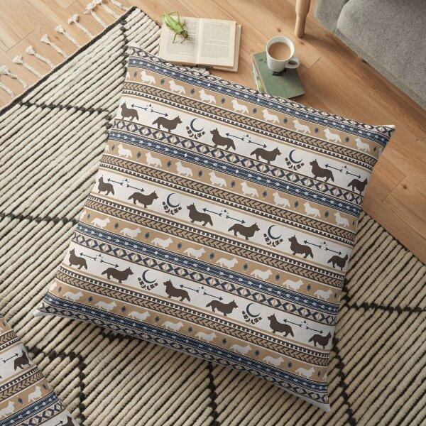 Boho dogs   Corgi tan Floor Pillow