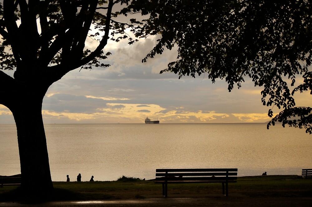 Overlooking English Bay by Rae Tucker