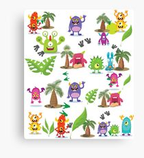 Cute Monsters for kids Canvas Print