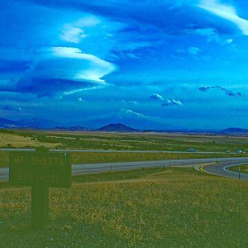 Clouds over Mt. Shasta by PriscillaTurner