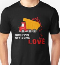 Funny Valentines Gift for him/her Dropping off some love  Unisex T-Shirt