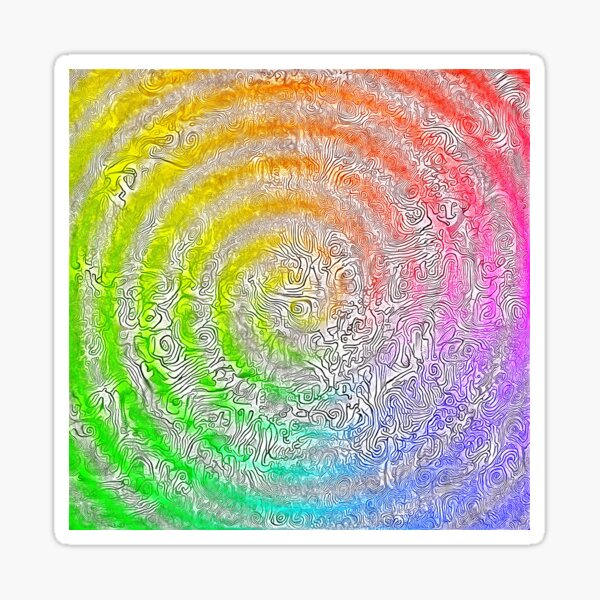 Abstract Spring Camouflage Sticker
