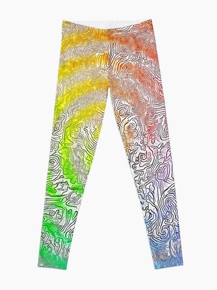 Alternate view of Abstract Spring Camouflage Leggings
