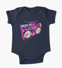 80s Boombox Pop Art One Piece - Short Sleeve
