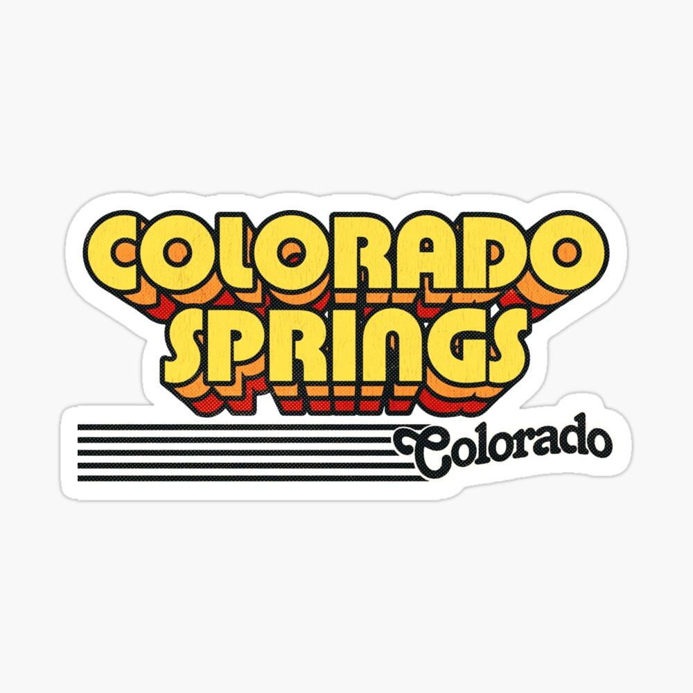 Colorado Springs, Colorado | Retro Stripes Sticker
