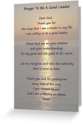 Leadership prayer poster and card greeting cards by katherine t leadership prayer poster and card by katherine t owen author m4hsunfo