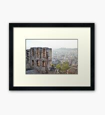 Outlook on Athens Framed Print