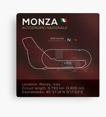 Monza Racetrack infographic Canvas Print