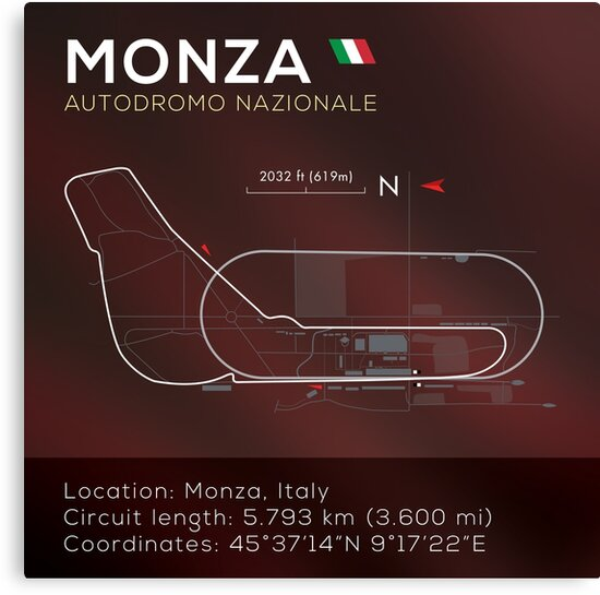 Monza Racetrack infographic by WanderingFox