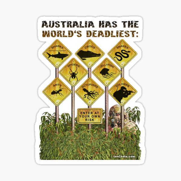 Australia has the World's Deadliest Soldiers Sticker