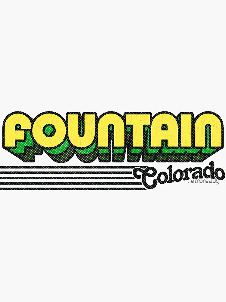 Fountain, Colorado | Retro Stripes by retroready