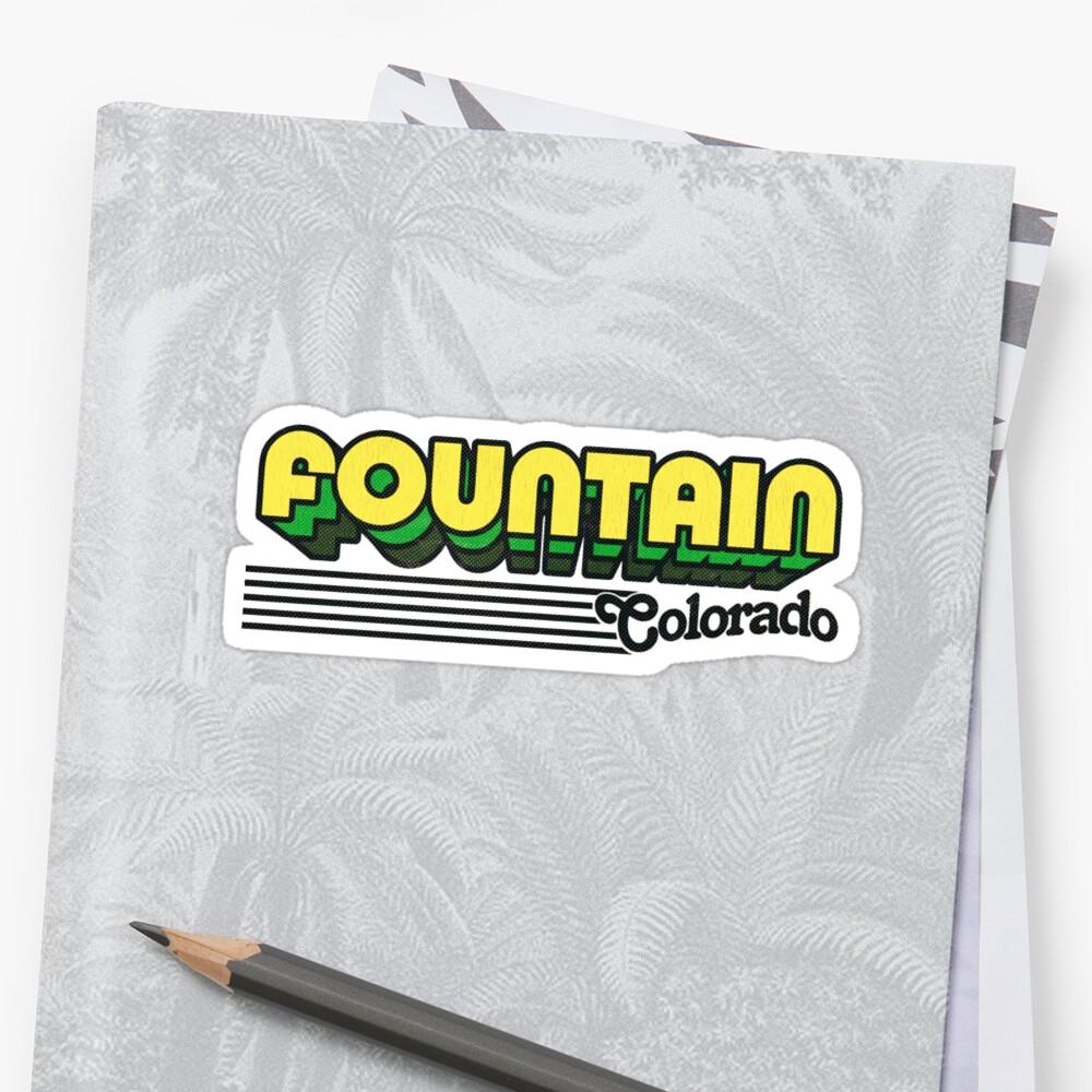 Fountain, Colorado | Retro Stripes Sticker