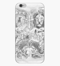 Drawing Tattoo Chest iPhone Case