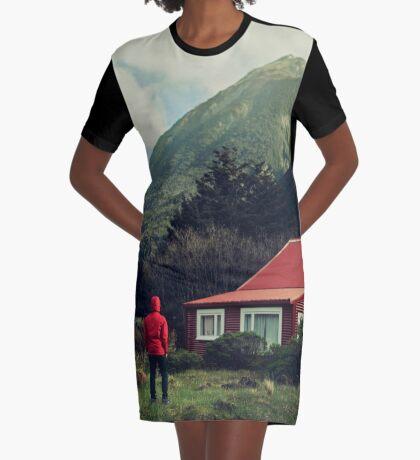 Rote Stalkerhaube! T-Shirt Kleid