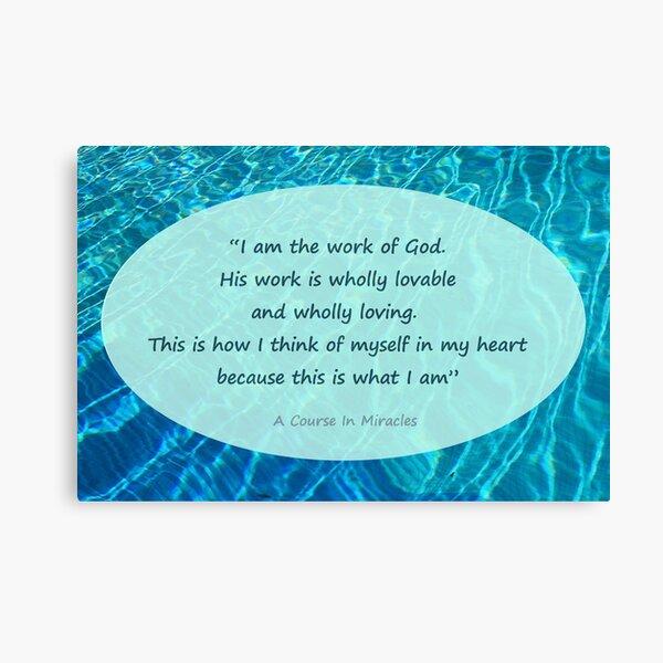God loves me card Canvas Print