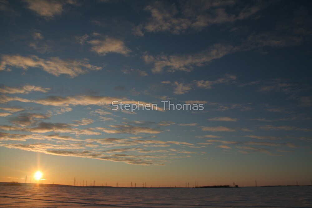 Big Sky Sunrise by Stephen Thomas