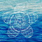 white mandala frangipani on deep blue ocean photo by faithie