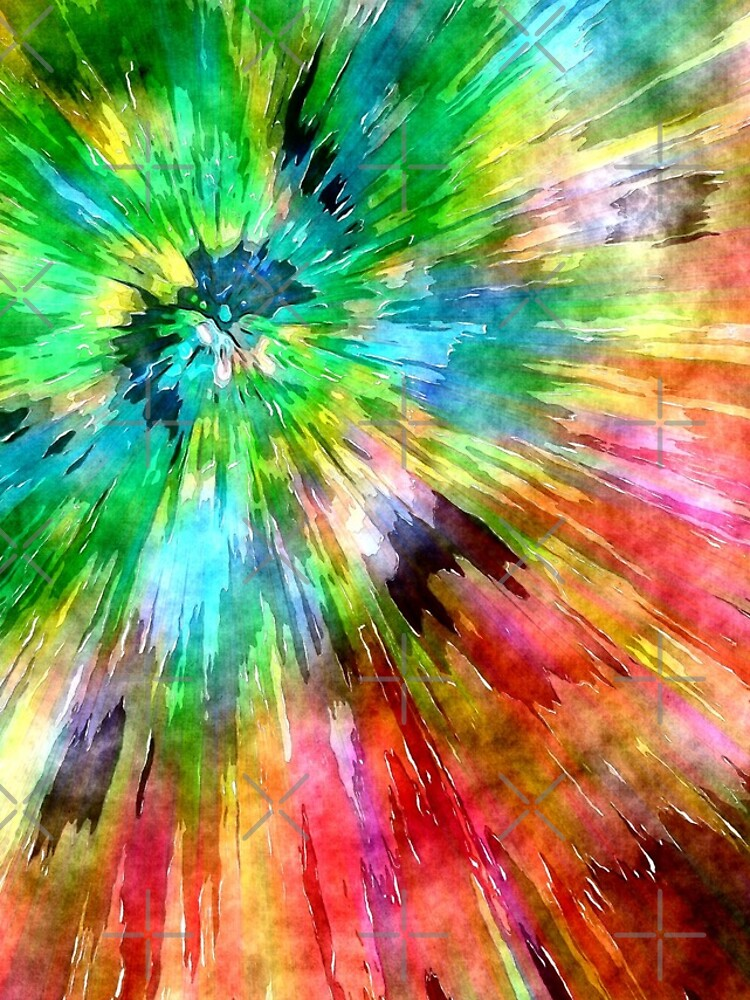 Colorful Tie Dye Starburst by perkinsdesigns