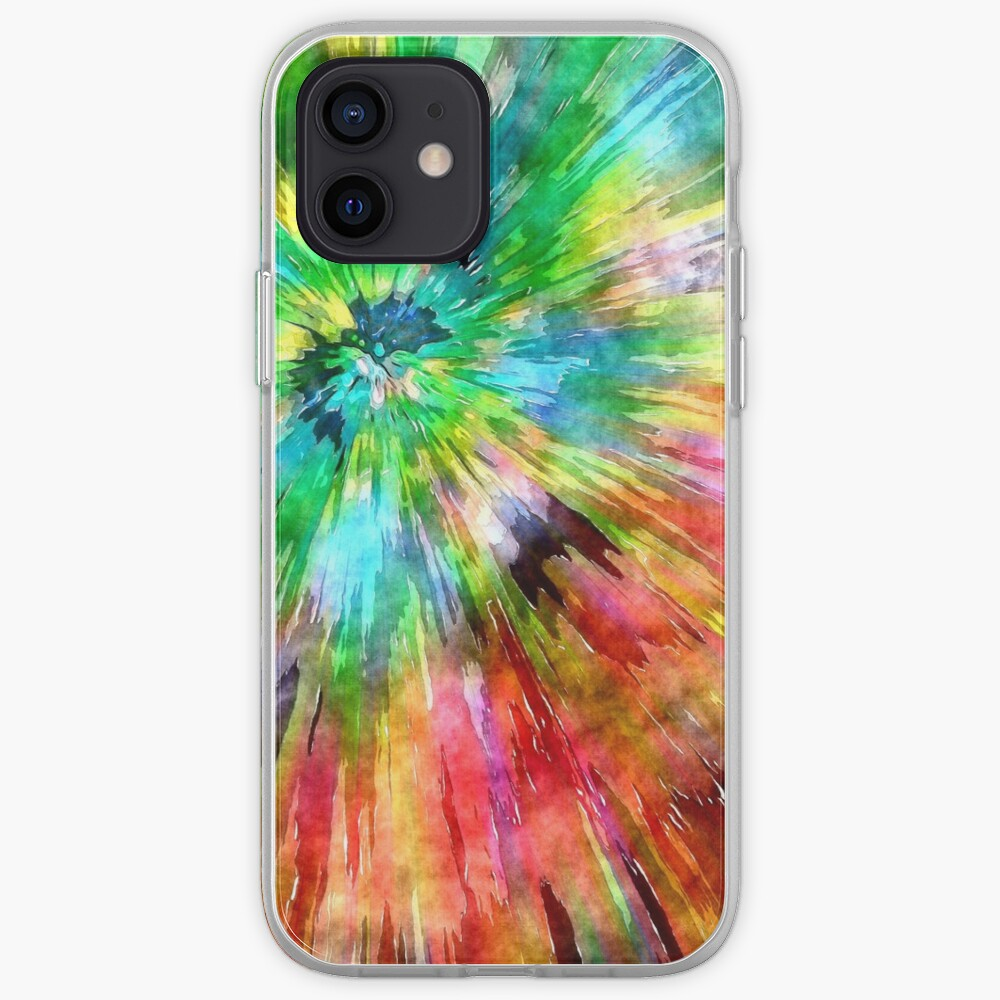 Colorful Tie Dye Starburst iPhone Case & Cover