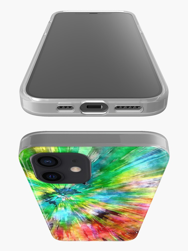 Alternate view of Colorful Tie Dye Starburst iPhone Case & Cover
