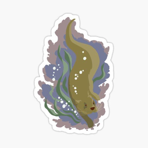 The Otter dives Sticker