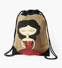 red princess Drawstring Bag