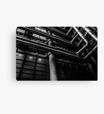 Industrial Pipes Canvas Print