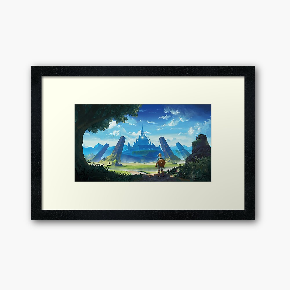The Legend of Zelda: Breath of the Wild  Gerahmter Kunstdruck