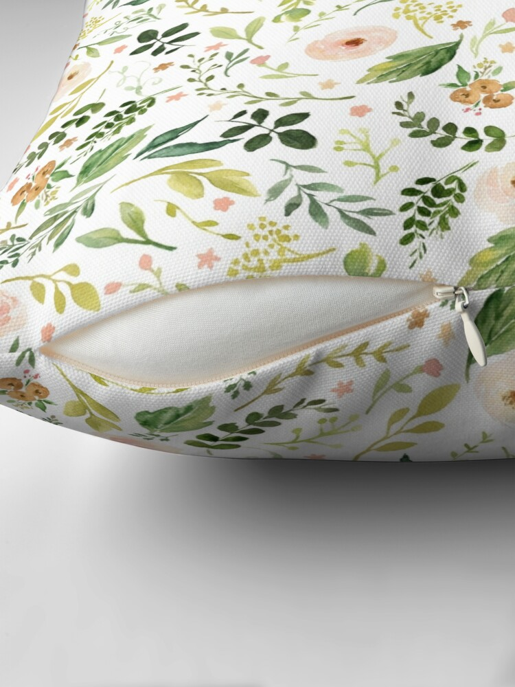 Alternate view of Botanical Spring Flowers  Floor Pillow