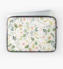 Botanische Frühlingsblumen Laptoptasche