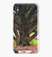 Avenue of Trees with a Pink Ground 1 iPhone Case/Skin