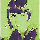 Louise Brooks in green by Terry Collett