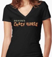 sid king's crazy horse Women's Fitted V-Neck T-Shirt