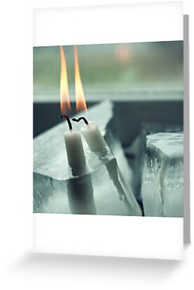 Frozen Lit Candles - Card Edition by Bjarte Edvardsen