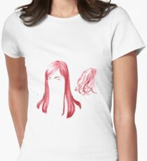 Two Red Girls Women's Fitted T-Shirt