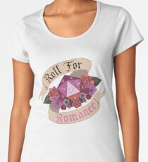 Roll For Romance - Lesbian Pride Women's Premium T-Shirt