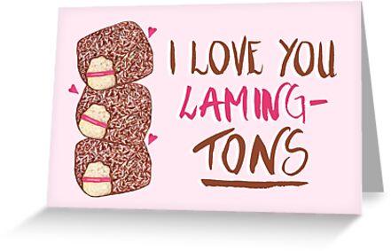Lamington - I Love You Laming-Tons by makemerriness
