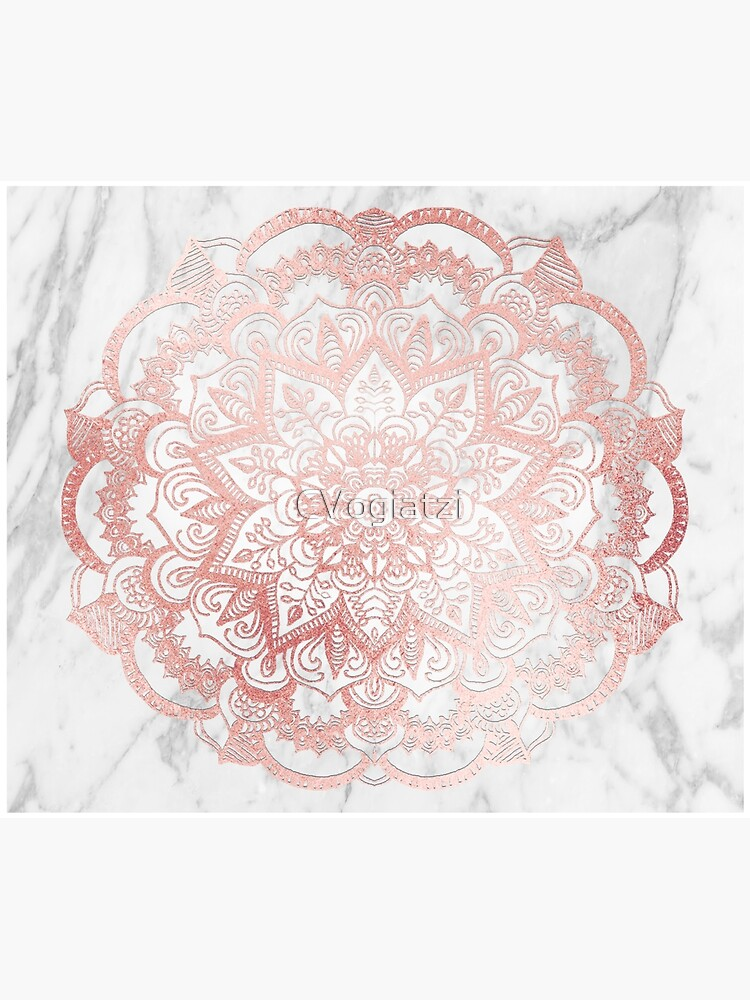 Rose Gold Mandala Star by CVogiatzi