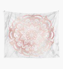 Rose Gold Mandala Star Wall Tapestry