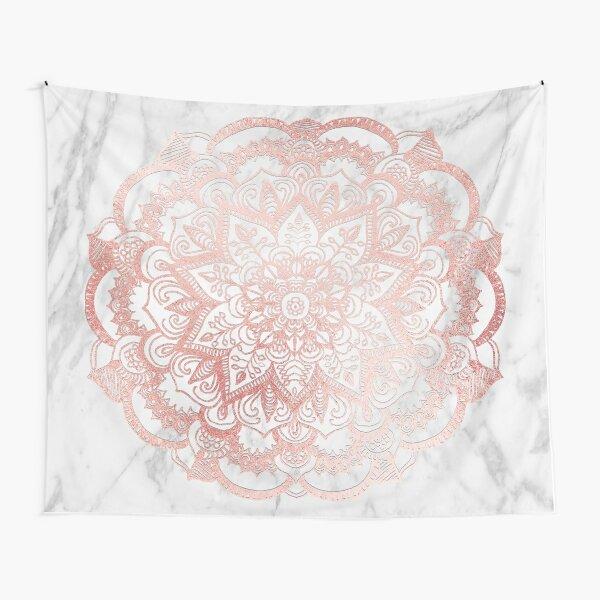 Rose Gold Mandala Star Tapestry